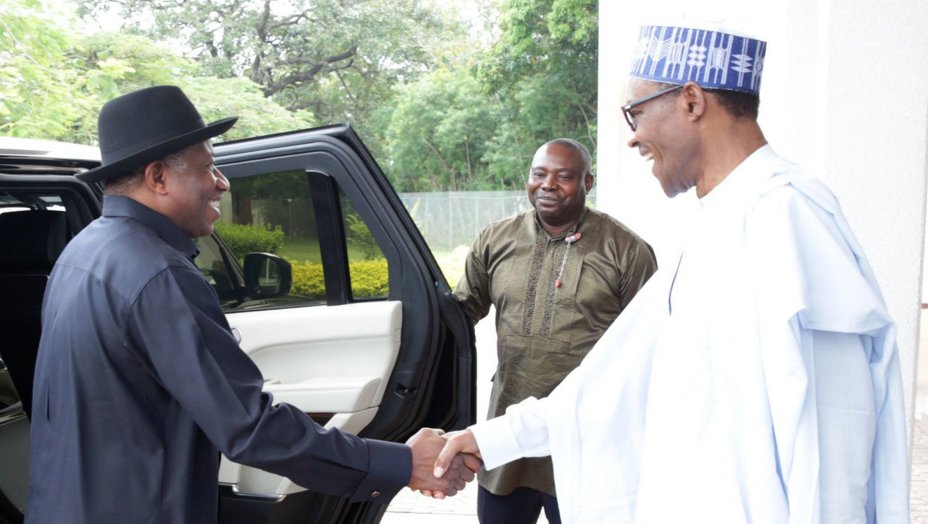 PhotoNews – GEJ meets with President Buhari, his s…