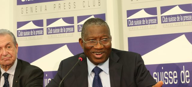 President Jonathan honoured by Diplomatic Circle (Circle Diplomatique), holds World Press Conference in Geneva.
