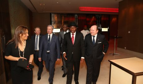 Photo: Diplomatic Circle (Circle Diplomatique),  holds Reception in Honour of President Jonathan in Geneva.